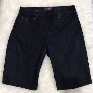 NYDJ Dark Wash Denim Bermuda Shorts